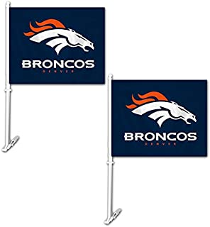 Fremont Die Official National Football League Fan Shop Authentic NFL 2-Pack Car Window Flags. Show Team Pride with These 11.5