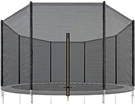 SPRINGOS Buitennet voor trampolines met 6 palen en m. Ø 305 cm, hoogte: 180 cm, veiligheidsnet, valbeschermingsnet, trampo...
