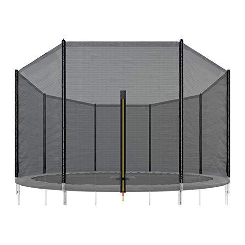 SPRINGOS Red de seguridad para cama elástica, 460 cm, 10 postes, 460 cm