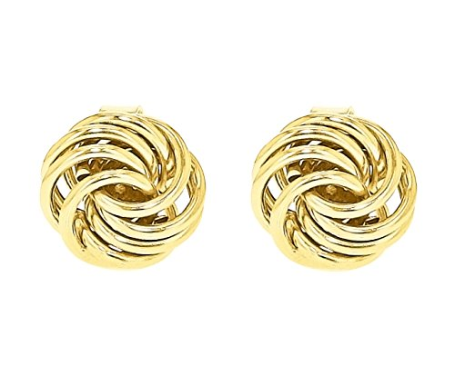 Carissima Gold Women's 9 ct Yellow Gold Mini Rose Stud Earrings