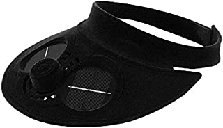 Black Solar Power Cooling Fan Caps For Unisex