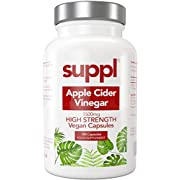 Raw Apple Cider Vinegar Capsules Tablets 1500mg, 180 Vegan Capsules Made from UK Grown Apples with The Mother, Keto Diet (60 Days Supply)