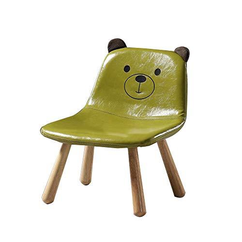 YUMEIGE Kruk Kinderstoel, Kinderstoel, Hout+PU Zachte Zak, Houtkruk Geschikt voor Woonkamer/Slaapkamer/Kinderkamer Gebruik, Bank Kruk, Houtstoel, Laad 75kg