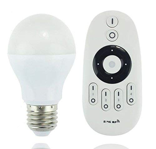 LIGHTEU®, 6W E27 dubbele witte WiFi-afstandsbediening LED-lamp - dubbele witte dimbaar met een wifi-afstandsbediening