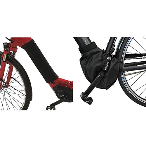 NC-17 E-Bike Schutzhüllen-Set / Akku Cover + Motor Cover für integrierten Akku im Unterrohr / Nylon und Neopren / Schwarz