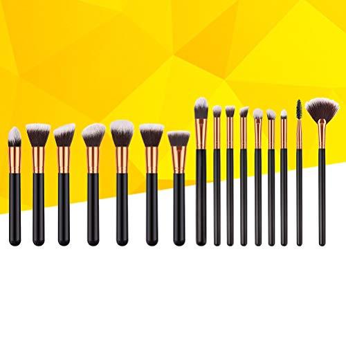 Lurrose 16 brosses cosmétiques pour accessoires de beauté en fibres de nylon