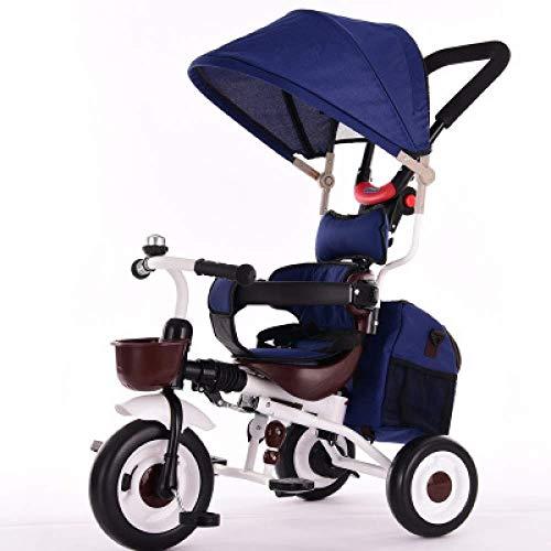 Triciclo Evolutivo 3 en 1 triciclo plegable para niños 1 a 6 años Cinturón de seguridad de 2 puntos Pedal para niños triciclo plegable Parrilla para el sol Barra ajustable para manijas Manijas