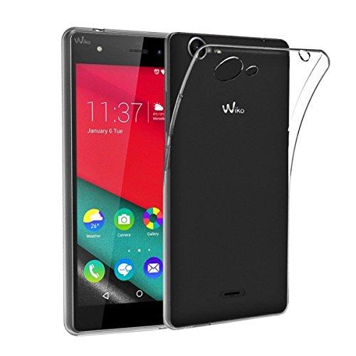 NEW'C Cover Compatibile con Wiko Pulp 4G, Custodia Gel Trasparente Morbida Silicone Sottile TPU [Ultra Leggera e Chiaro]