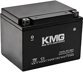 KMG YIX30L-BS Battery For Polaris 800 Ranger 2010-2011 Sealed Maintenace Free 12V Battery High Performance Replacement Maintenance Free Powersport Motorcycle ATV Scooter Snowmobile Watercraft KMG