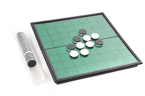 Azerus Línea Standard: Reversi clásico, tablero con piezas magnéticas, tamaño estándar M (25cm x 25cm x 2cm), tablero de metal sirve también de caja para el viaje y de depósito, Art. 56500 DE