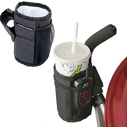 Soporte para bebidas para cochecito, soporte para bebidas y soporte para teléfono móvil para padres, soporte universal para botellas de café, organizador para bicicleta, silla de ruedas