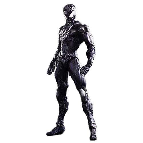 LIUYUN Marvel Avengers 3 Azul Negro Spiderman Juguete Muñeca Modelo Cuerpo Entero Articulación Móvil 25 CM