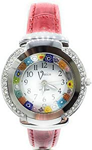 Reloj de mujer Antica Murrina Venice color acero reloj de cristal de Murano Cristal