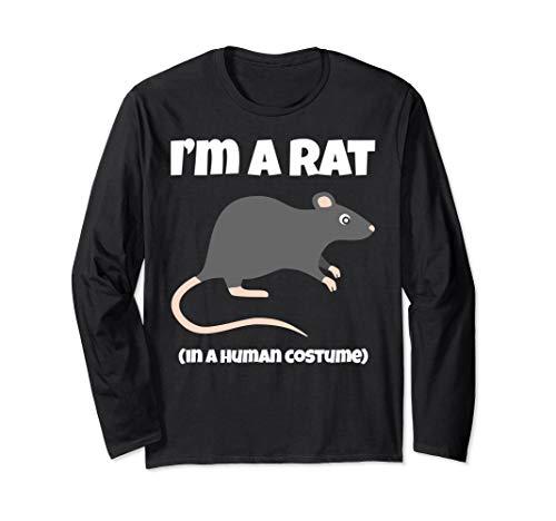 Rattenkostüm I'm a Ratte in a Human Kostüm Lustig Langarmshirt
