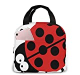 Yuanmeiju Boys Girls Insulated Neoprene Lunch Bag Beetle Nature Funny Tote Handbag Lunchbox Food Container Cooler Warm Pouch for School Work Office