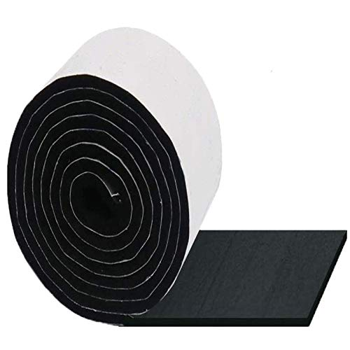 SunAurora Filzgleiter Selbstklebend, Filzband Selbstklebend, Stark Filzstreifen, DIY selbstklebende Möbel-Pads, Bodenschutz, Filz-Stuhl-Pads (200cm * 10cm * 5mm, Schwarz)