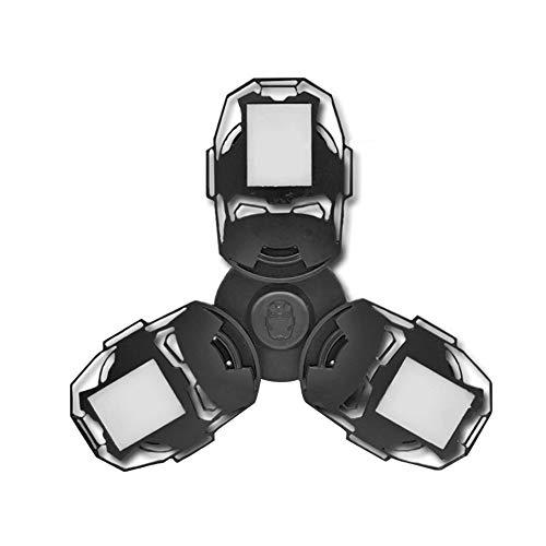 LED Garagenbeleuchtung 100W E27 führte Verformbare Lampe Innenleuchte 8000 Lumens hohe Intensität Mining Lampen Verformbare LED Lichter Garage Licht Deckenleuchte (Schwarz)