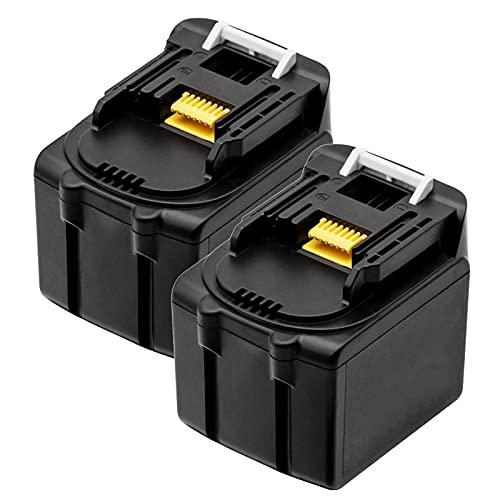Batería de reemplazo de la Herramienta Power Tool de 5AH 6AH 14.4V para Makita BL1430 BL1440 BL1450 BL1415 194066-1 Baterías de Litio Recargables, Batería, YLLLLY-6686