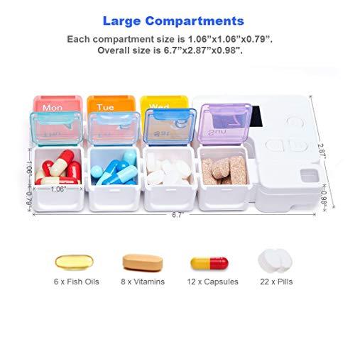 TBSoon 7 Day Pill Organizer - Best Automatic Pill Dispenser