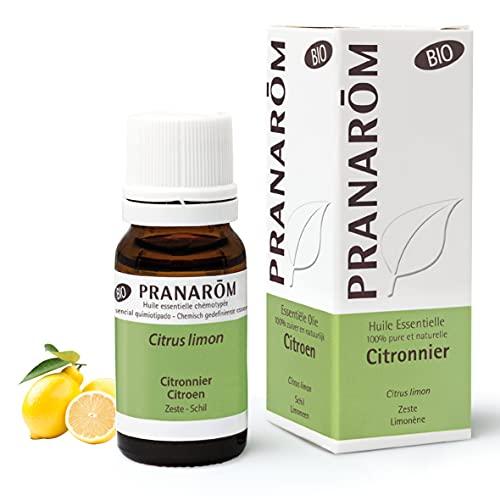 Pranarôm |Huile Essentielle Citronnier Bio | Citrus limon| Citron Zeste |10 ml