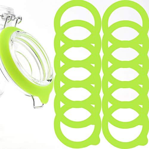 LUTER Silikon Glasdichtungen Ersatz, Auslaufsichere Silikon Dichtungen Luftdichte Dichtungsringe (Grün)