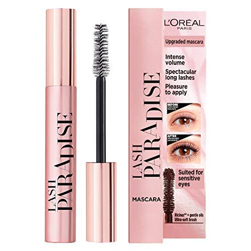 L'Oréal Paris Lash Paradise Mascara - L'Oréal mascara voor intens volume, verrijkt met castorolie en rozenolie - 6.4 ml, 01 Black
