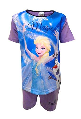 Disney Frozen - Pigiama corto da bambina Viola 2-3 Anni
