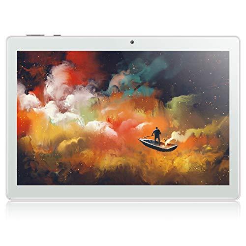 Tablet 10 Zoll Android 9.0 4G Tablet PC Qimaoo mit 3 GB RAM 64 GB ROM Octa-Core 2.3GHz HD (1280 x 800) Dual SIM/Kamera 2MP+8MP Tablets, Type C /WiFi /GPS/Bluetooth 4.0/OTG