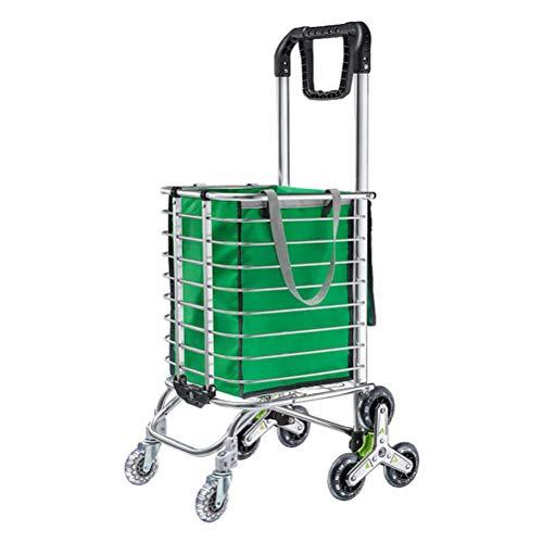 ZGYQGOO Warenkorb Tragbare Utility Carts Klappwagen Leichte Treppe Kletterwagen 110 Pfund Kapazität