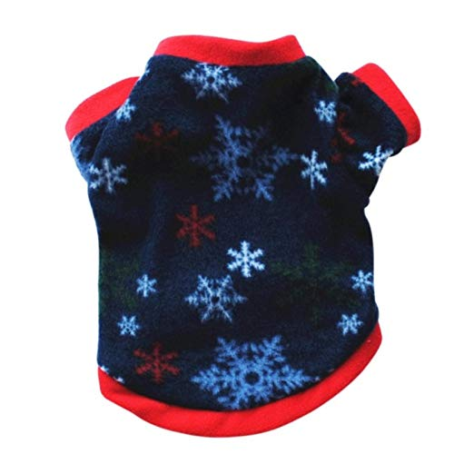Pet Warm Shirts Winter Christmas Dog Costume Small Dog Cat Pet Clothing Puppy T Shirt Apparel Warm Pullover