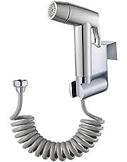 Handheld Bidet Sproeier Toilet Badkamer met Lente Slang Muurbeugel Set, Closestool, Squatting Pan, Waterbloem, Vloer Reinigingsdoek Luier voor Badkamer Hygiëne