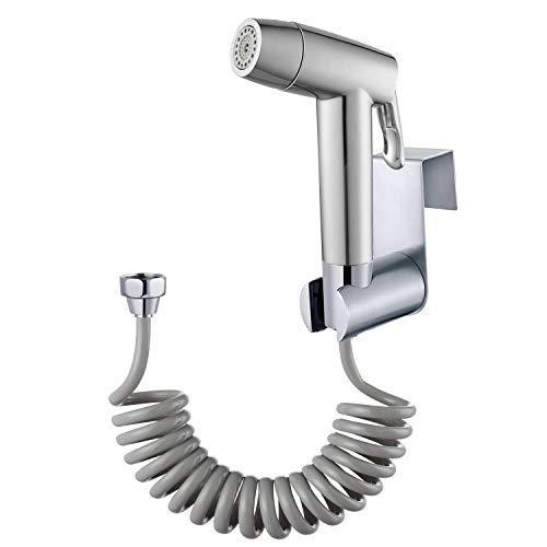 Bidé de mano pulverizador de baño con manguera de resorte soporte de pared, Closestool, cacerola de cuclillas, flor de agua, pañal de paño de limpieza para baño