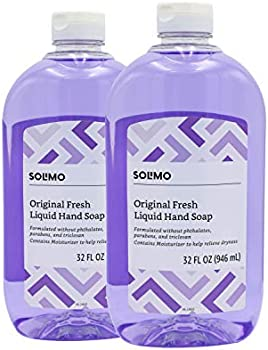 2-Pack Amazon Brand Solimo Original Fresh Liquid Hand Soap 32 Fl Oz