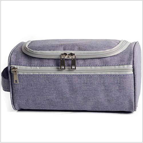 WANGXN Travel Cosmetic Bag Wasserproof Large Space Small Make up Box Nail Cosmetic Box Vanity Case,Lightpurple