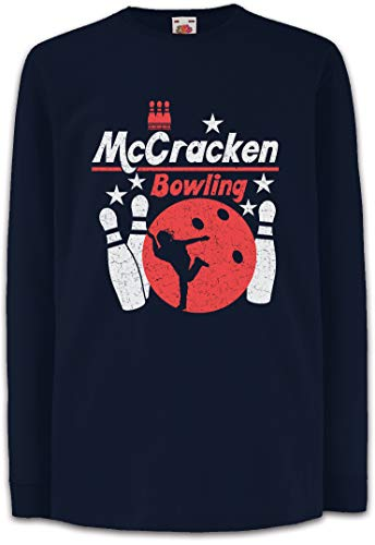 Urban Backwoods Mccracken Bowling Kinder Kids Mädchen Jungen Langarm T-Shirt Blau Größe 12 Jahre