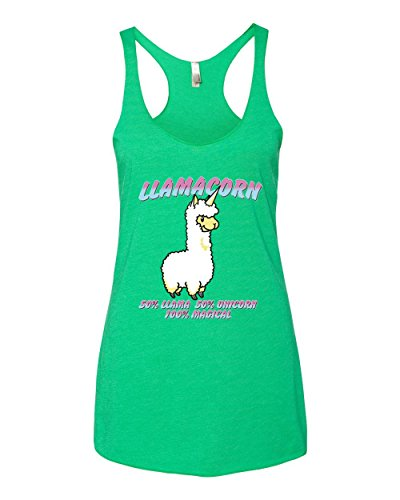 Llamacorn | 50% Llama Unicorn 100% Magical | Womens Humor Premium Tri-Blend Racerback Tank Top 3