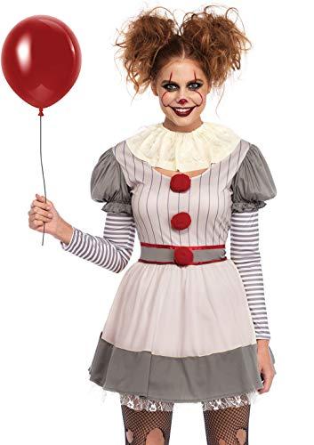 Leg Avenue Womens Scary Clown Costume, Multi, MED/LGE