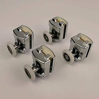 Haoweiwei HWW-wielen, legering Bearing Hardware Sliding Douche Glas Deur Roller Runner Katrollen Diameter 23mm/25mm Douche...