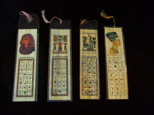 10 Egyptian Large Papyrus Book Marks LOT Wholesale