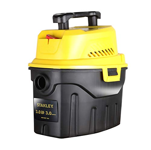 For Sale! Stanley 3 Gallon Wet Dry Vacuum, 3 Peak HP Poly 2 in 1 Shop Vac with Powerful Suction, Mul...