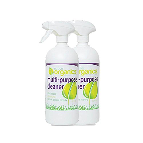 Multi Purpose Cleaner by Native Organics- Non-toxic, Plant-Based, All-Natural, 32 ounce bottle, Fresh Grapefruit Scent, Child & Pet safe home cleaning product (2)