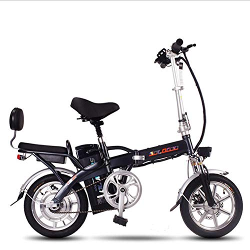 TX Bicicleta Eléctrica Plegable Viajes Unisex Bicicleta para Adultos Batería De Litio Extraíble Ciclomotor Ligero
