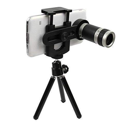 SKY trip Universal Optical 12X Zoom Mobile Telescope Lens kit for All Smartphone Camera with Tripod Kit