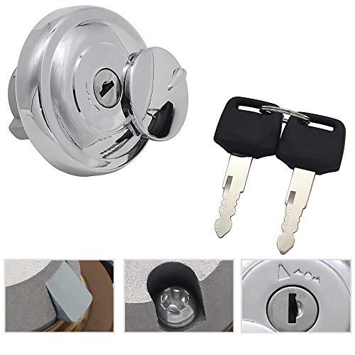 Gas Locking Cap Fuel Gas Tank Locking Cap Lid Cover Keys-For Yamaha SR400 XVS1100 XVS650 XVS950 Midnight Star XV1900 XV19 XV1700 XV1600 XVS125 XVS250 XVS400 Kawasaki VN900 Vulcan 900 Classic VN1700