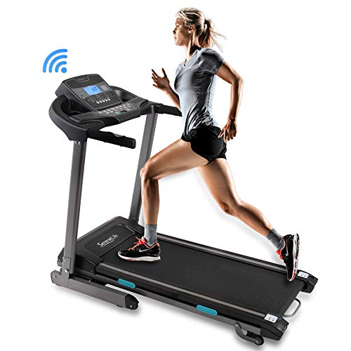 SereneLife Foldable Digital Home Gym Treadmill | Smart Auto Incline Exercise Machine with...