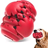 Dog Chew Toy for Aggressive Chewers Large Medium Breed Dogs 3IN1 Food Dispenser Teeth Clean&Chew Indestructible Heavy Duty Durable Dog Toy Interactive 100% Safe Natural Rubber