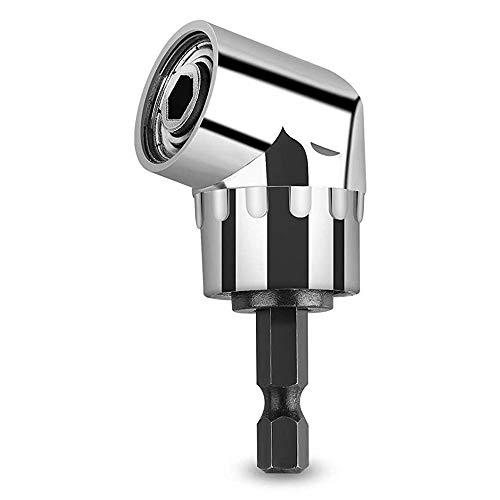 Winkelschrauber Vorsatz Adapter, 105 Grad, multifunktional, rechtwinkliger Bohraufsatz, Schlagbohrer, Treiber-Verlängerung, 6,35 mm Antrieb, 6 mm Sechskant, magnetischer Bit-Halter