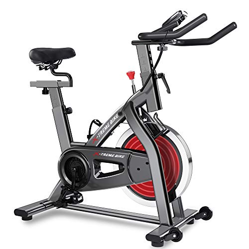 Merax Indoor Exercise Bike - Stationary Home Gym Workout Bicycle Fitness Equipment 35lbs Flywheel 4 Adjustable