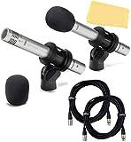 Samson C02 Pencil Condenser Microphone Bundle with Protective Carry Case,...