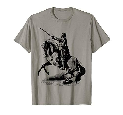 Knight In Suit of Armor Horse Sword Helmet Medieval T-Shirt
